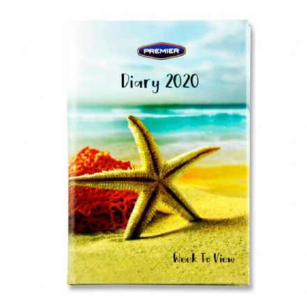 Premier Diary 2020 Week to View Assorted Designs Small